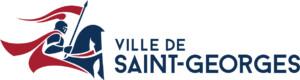 Logo Ville de Saint-Georges bleu marine et rouge